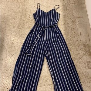 Monteau Pin Stripe Jumpsuit
